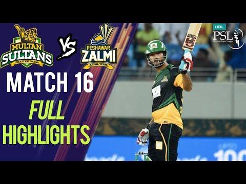 Full Highlights   Peshawar Zalmi Vs Multan Sultans    Match 16   6th March   HBL PSL 2018