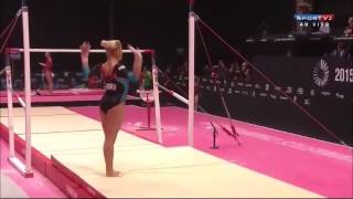 10 best uneven bars routines worlds 2015