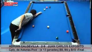 Final del Campeonato de Asturias de Pool 2012; Juan Carlos Exposito vs Adrian Caldevilla