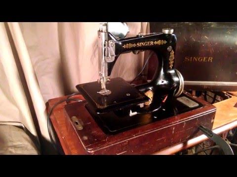 Very Rare Rewired Serviced Antique 1923 Singer 24-62 Portable Chain Stitch Sewing Machine G9952642