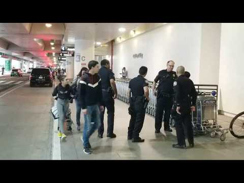 LAX airport police call for american airlines supervisor VS lax employees  at lax
