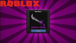 DID I GET A HALLOW KNIFE In Roblox Murder Mystery 2