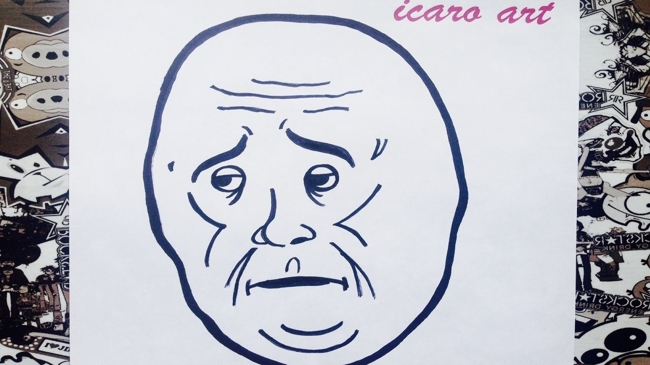How To Draw Meme Okay - YouTube