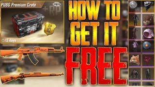 PUBG MOBILE HOW TO GET FREE GUN SKINS, FREE PREMIUM CRATES UPDATE 0.7