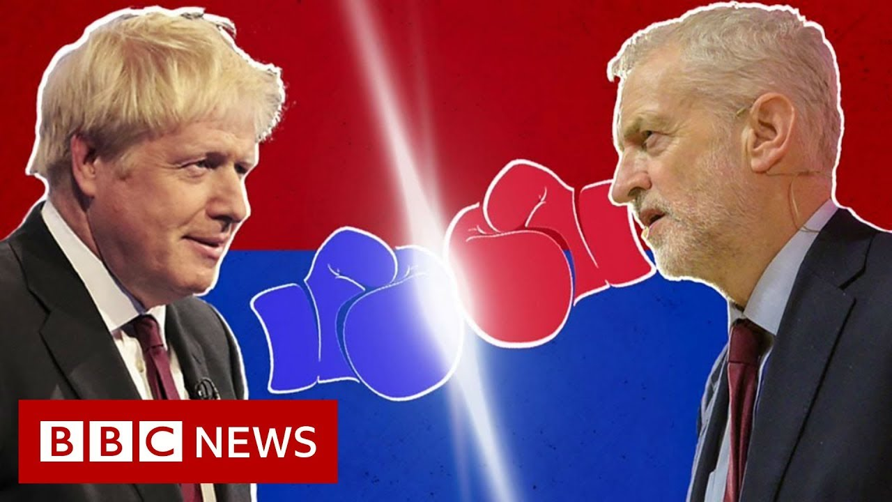 Johnson v Corbyn: The head-to-head in three minutes - BBC News