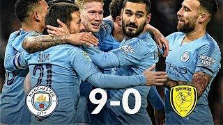 Manchester City vs Burton 9-0 09/01/19 ● Match Statistic