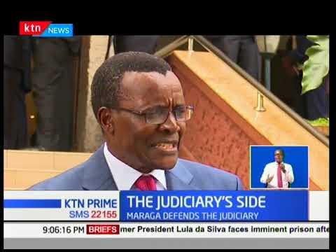 Chief Justice David Maraga is refuting claims by interior cabinet secretary