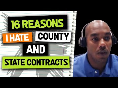 16 reasons to HATE County and State Contracts