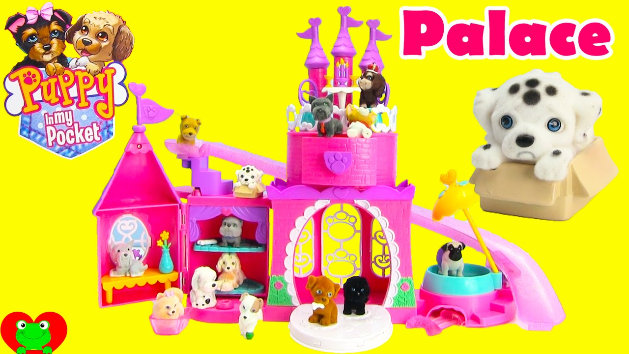 Puppy In My Pocket Pretty Pet Palace Playset And Blind Bags Youtube
