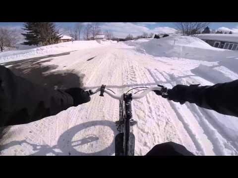 Fat Bike à Val-Belair ( Québec ) 2014