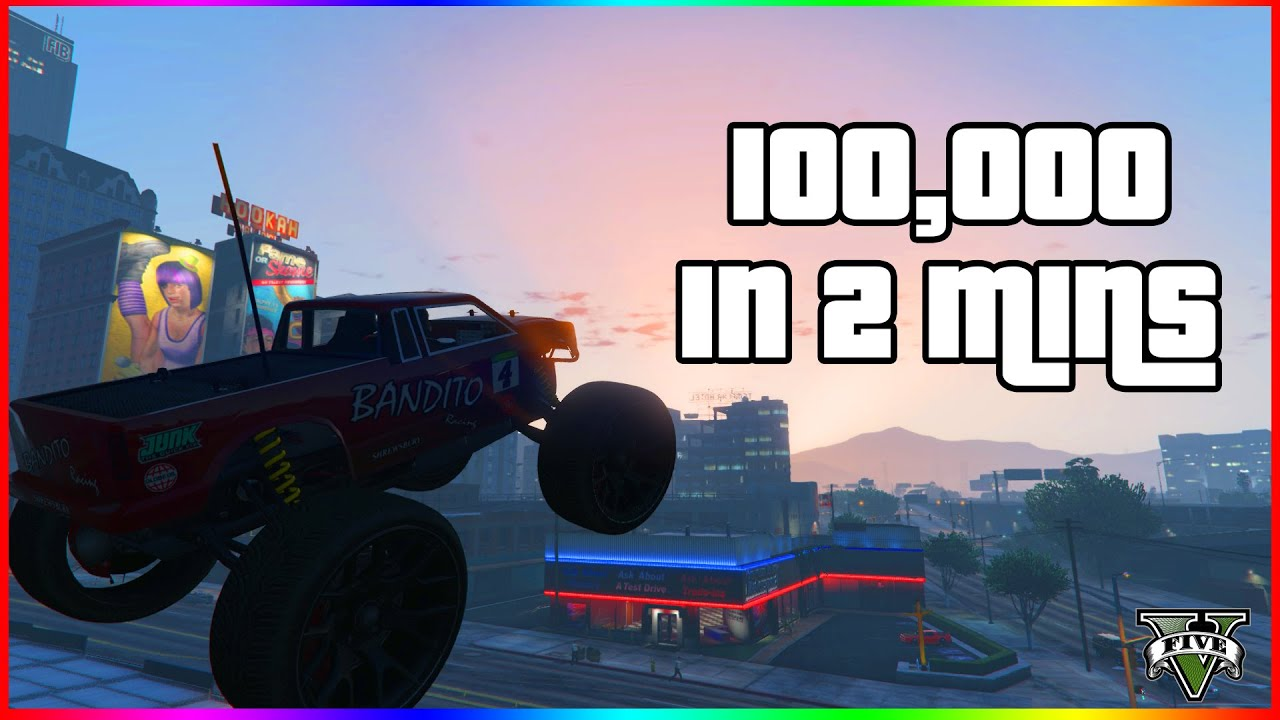 Making Money in GTA V Online 100,000 In 2 Minutes