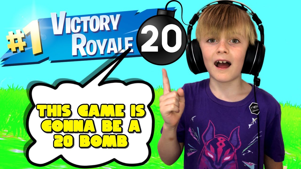 9 YEAR OLD PREDICTS 20 BOMB IN FORTNITE (SOLOS)