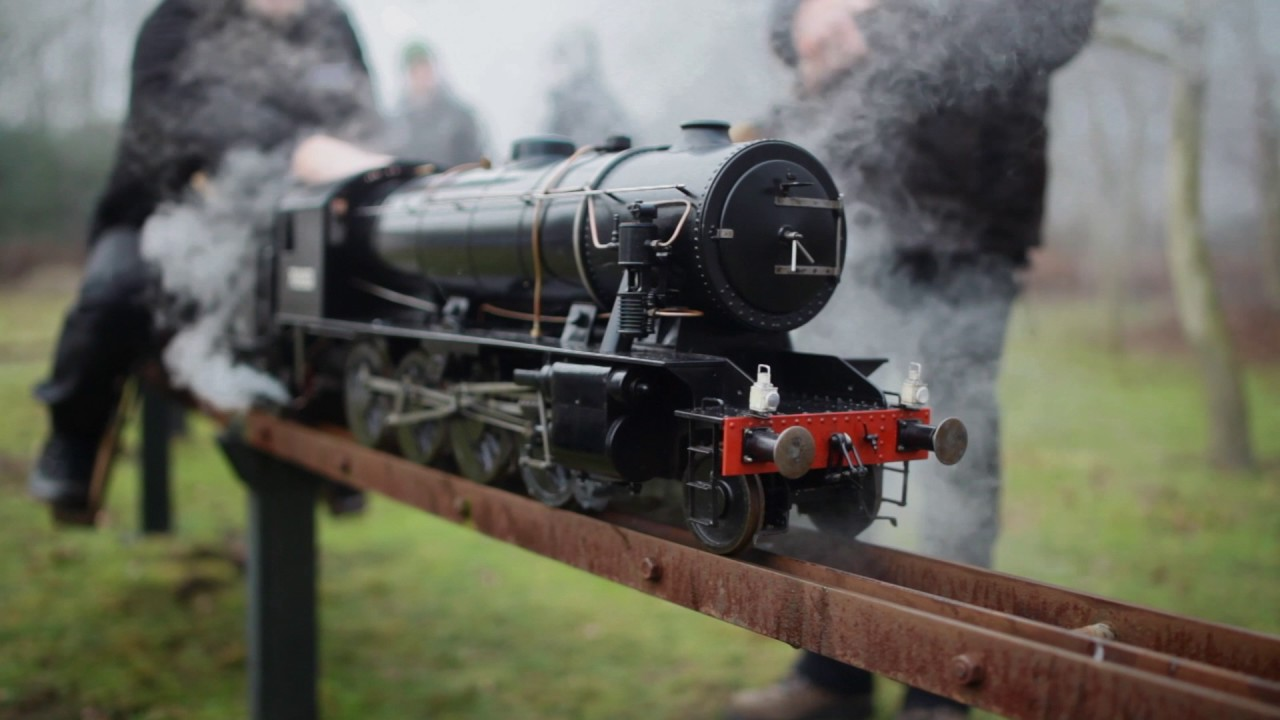 "Live Steam - 5"" gauge WD Austerity 2-8-0 - YouTube"