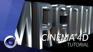 How to Create Realistic Metallic Text in Cinema 4D - TUTORIAL
