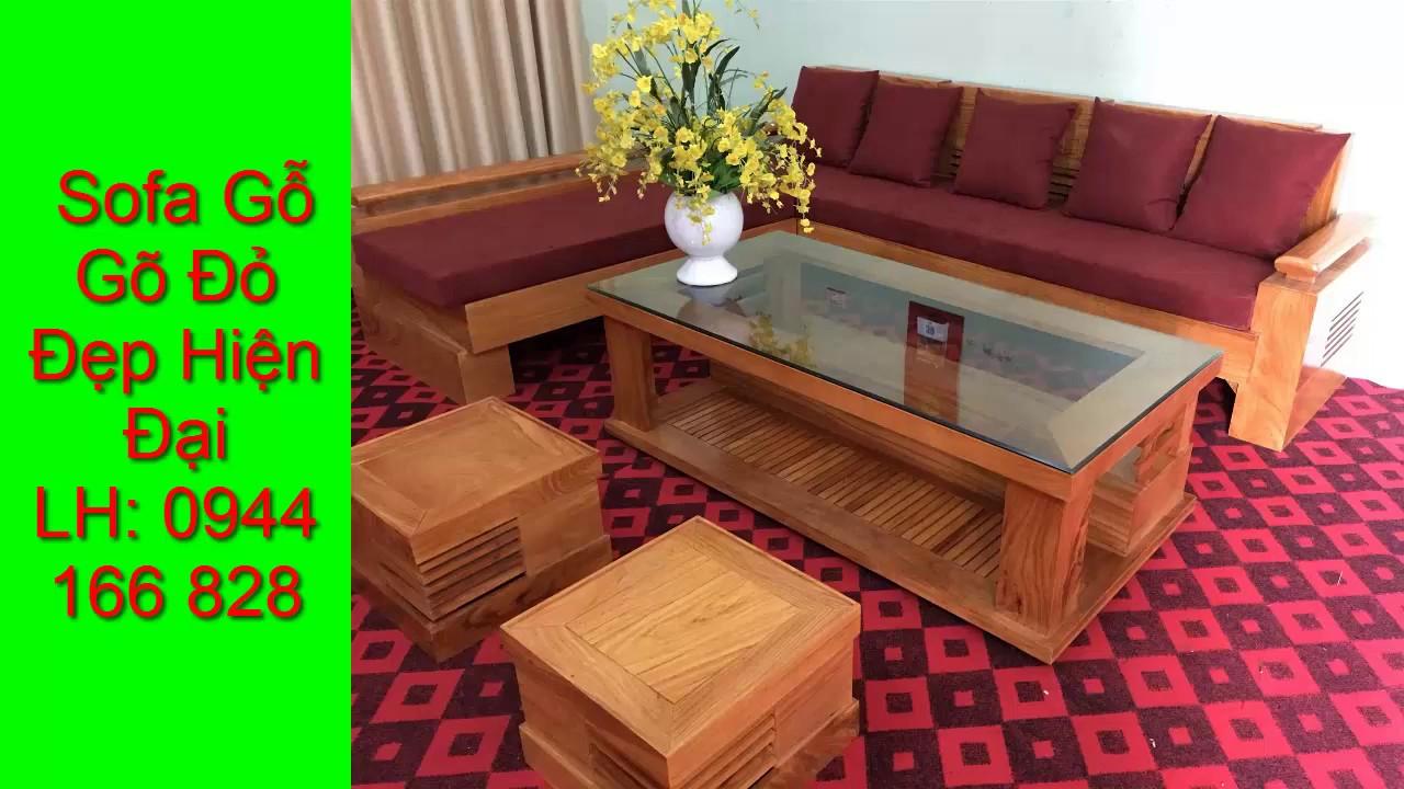 các mẫu bàn ghế phòng khách gỗ gõ đỏ đẹp | sofa gỗ | 0976 648 021