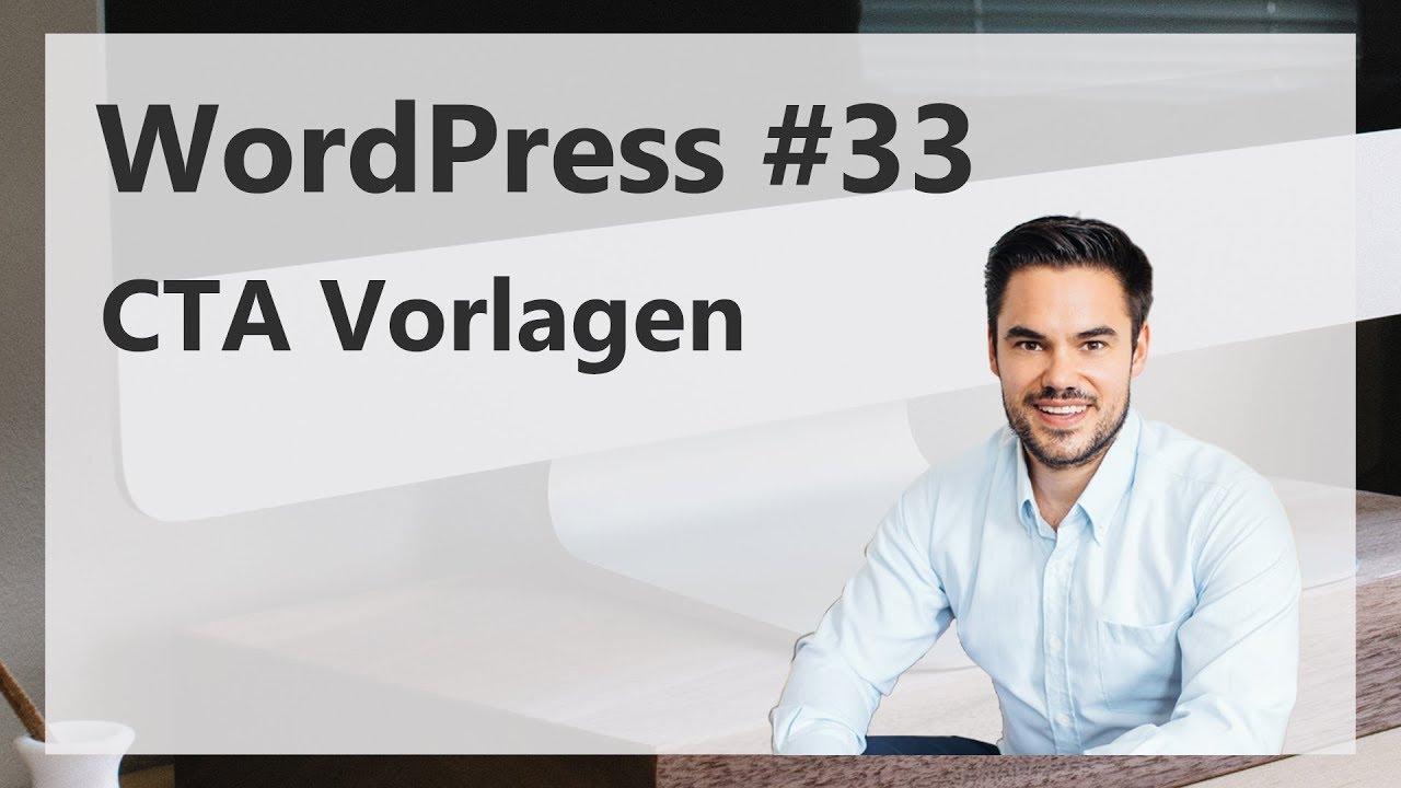 Vorlagen im WordPress für Button-Codes - CTA Vorlage / WordPress #33 ...