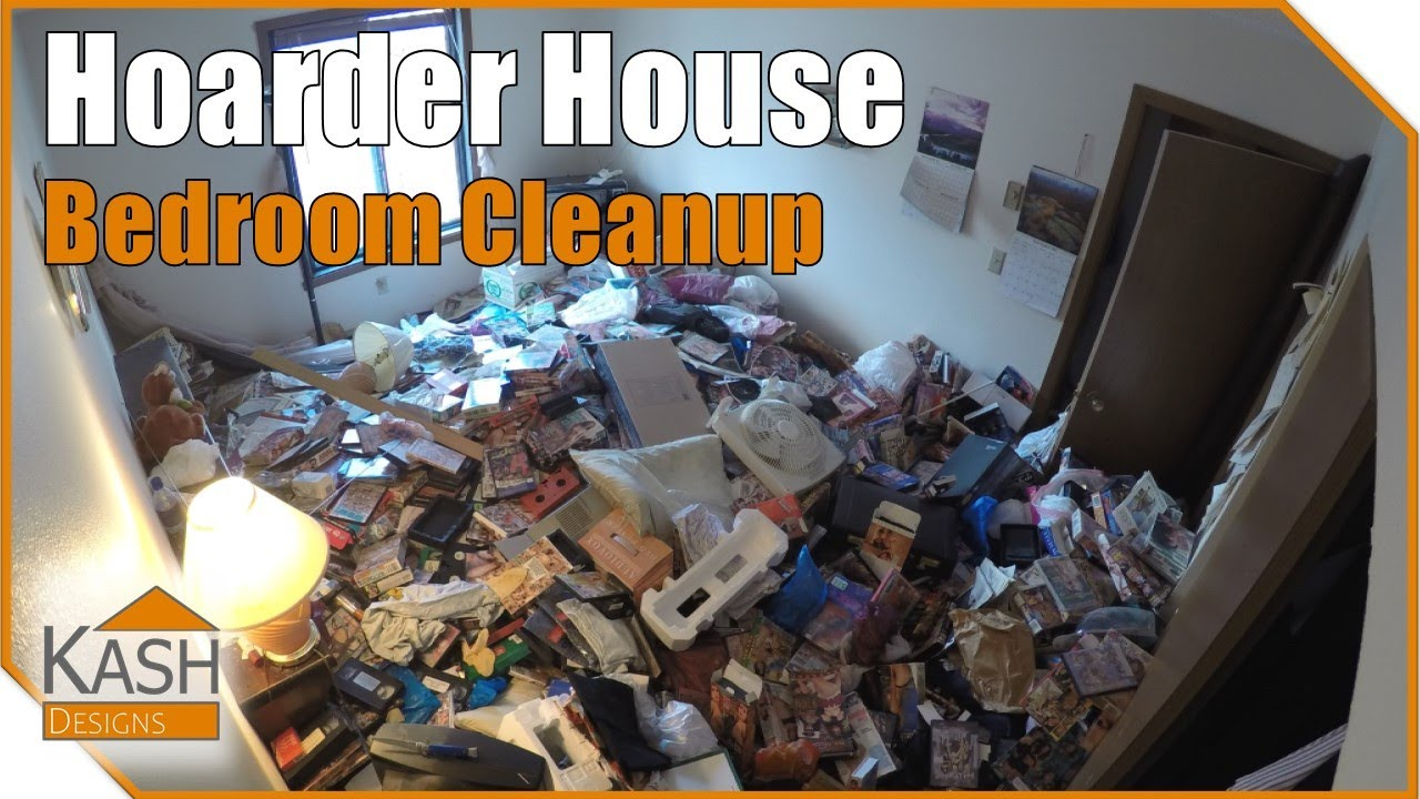 Hoarder House Cleanup - Bedrooms Time-Lapse DIY - YouTube