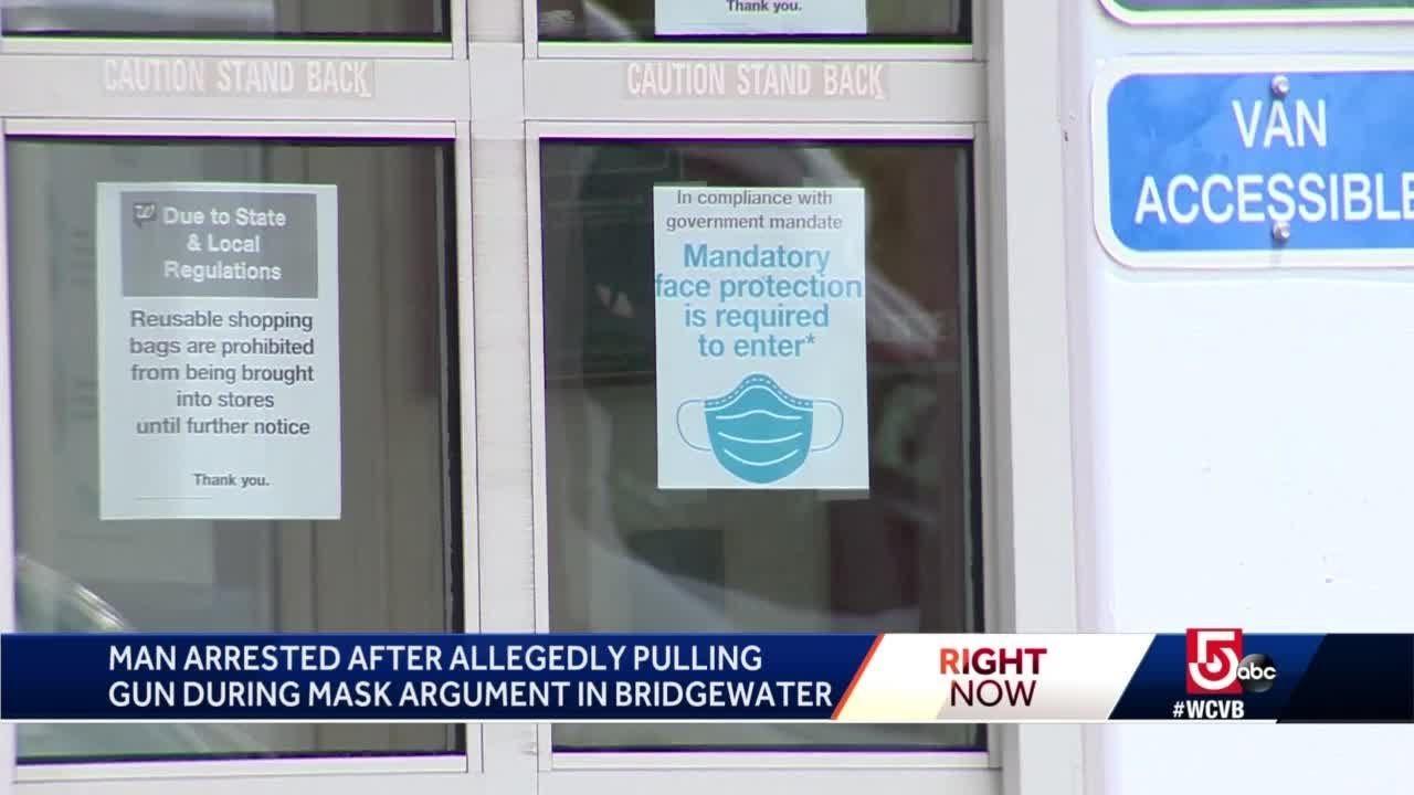 Police: Man pulls gun on Mass. shopper not wearing face mask