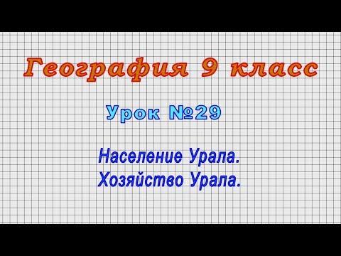 География 9 класс (Урок№29 - Население Урала. Хозяйство Урала.)