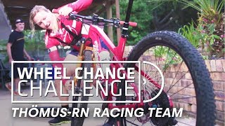 WHEEL CHANGE CHALLENGE: How fast can bikers change a wheel?