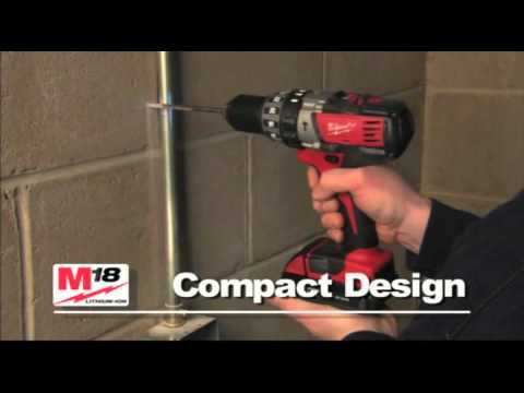 Milwaukee M18 Heavy Duty Lithium Ion Hammer Drill Driver Power Tools