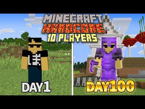 ハードコア100日生活の村の発展がやばすぎた Minecraft 100days【マイクラ】