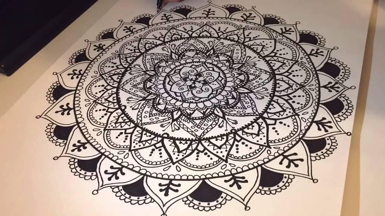 Speed Drawing Mandala Pattern My Drawing Blog