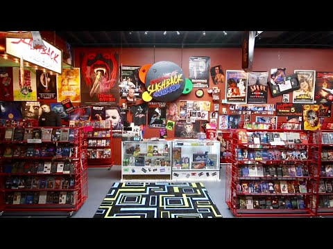 Slashback Video - 1980's VHS Horror Themed Pop Up Video Stor