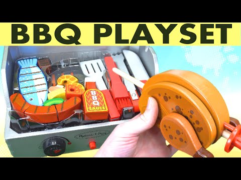 Melissa and Doug Rotisserie Grill Wooden Playset!