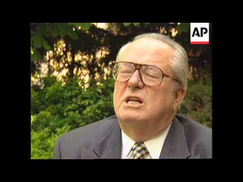 FRANCE: NATIONAL FRONT LEADER JEAN-MARIE LE PEN INTERVIEW