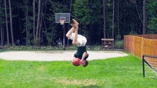 Backflip Basketball Trick Shot
