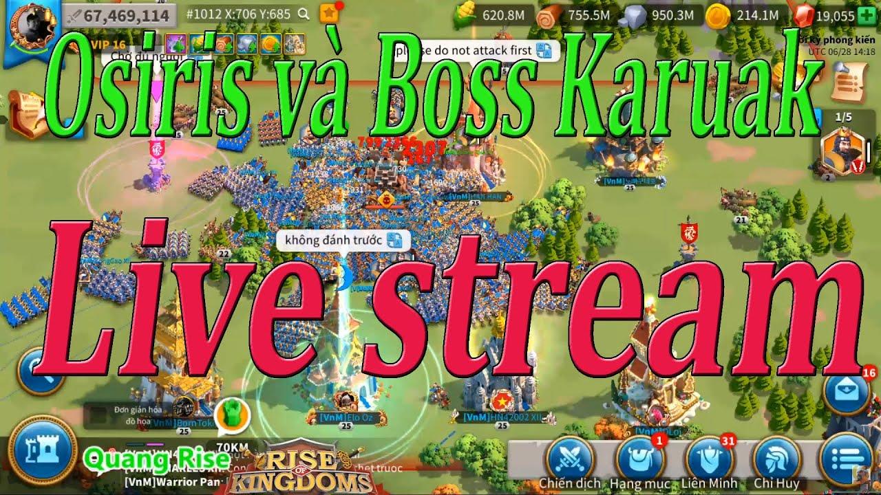[28/06/2020] hkl vs 411k and Boss Karuak let's go stream | Rise of Kingdoms