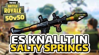 Es knallt in Salty Springs - ♠ Fortnite Battle Royale 50vs50 ♠ - Deutsch German - Dhalucard