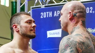 Dave Allen vs Lucas Browne WEIGH IN & FACE OFF | Matchroom Boxing
