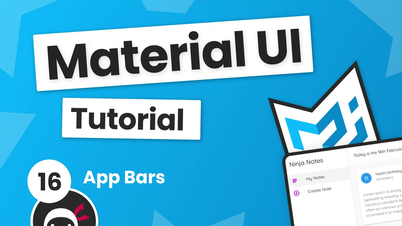 Material UI Tutorial #16 - App Bars