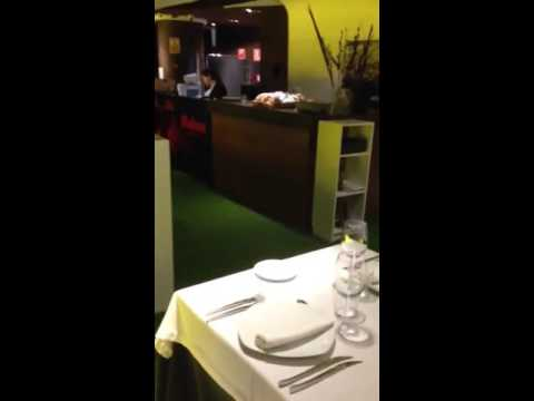 Eating at Real Madrid stadium