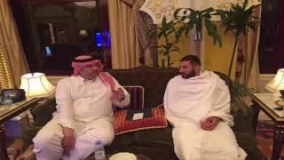 كريم بنزيما في ضيافة  الامير عبدالله بن مساعد  قبل العمرة