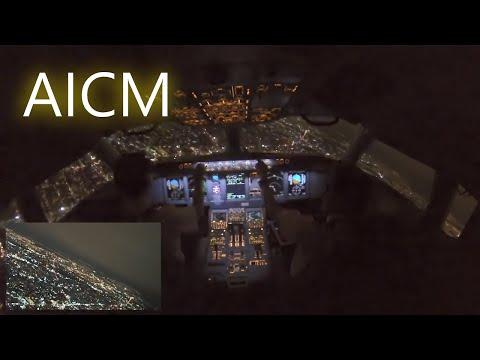 Sukhoi SSJ 100, Night landing in Mexico City Airport.