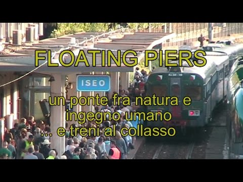 Treni al collasso, iperafflusso a The Floating Piers