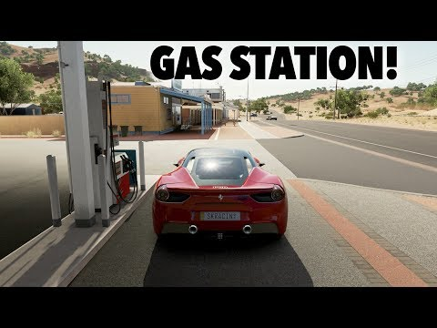 Where the gas station is in Forza Horizon 3
