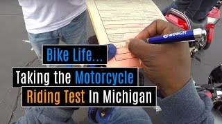 Taking the Riding Test For My Motorcycle License/Endorsement In Michigan (POV)