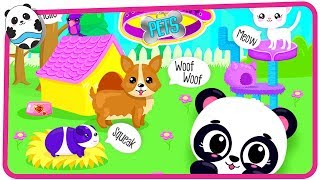 Fun Pet Care Kids Games - Cute & Tiny Pets - Kids Build Baby Animal Houses Game for Children