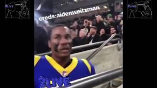 LA Rams DB Marcus Peters CHECKS A Fan For Talking Trash