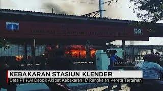 Kebakaran Hebat Di Stasiun Klender,  KRL Belum Bisa Melintas