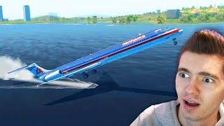 ACIDENTE NO MAR com AVIÃO BOEING!!! - X Plane 11