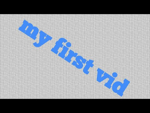 My first video *Zai*
