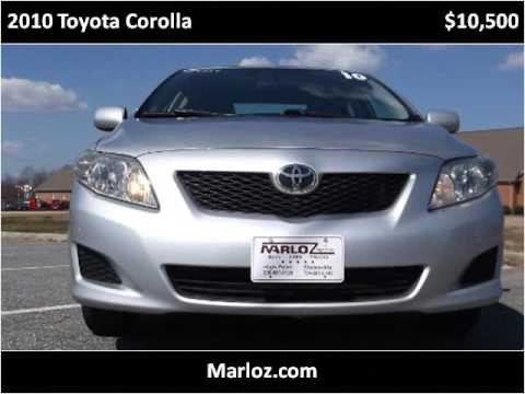 2010 toyota corolla used cars high point nc youtube. Black Bedroom Furniture Sets. Home Design Ideas