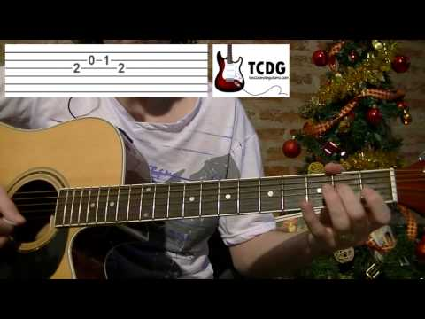 How to Play Deck The Halls on Acoustic Guitar: Video Tab / Easy Christmas Songs TCDG