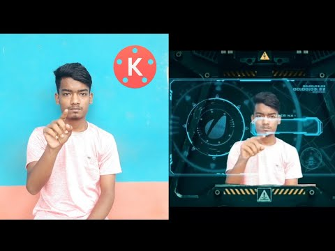 Kinemaster hologram tutorial Green screen background