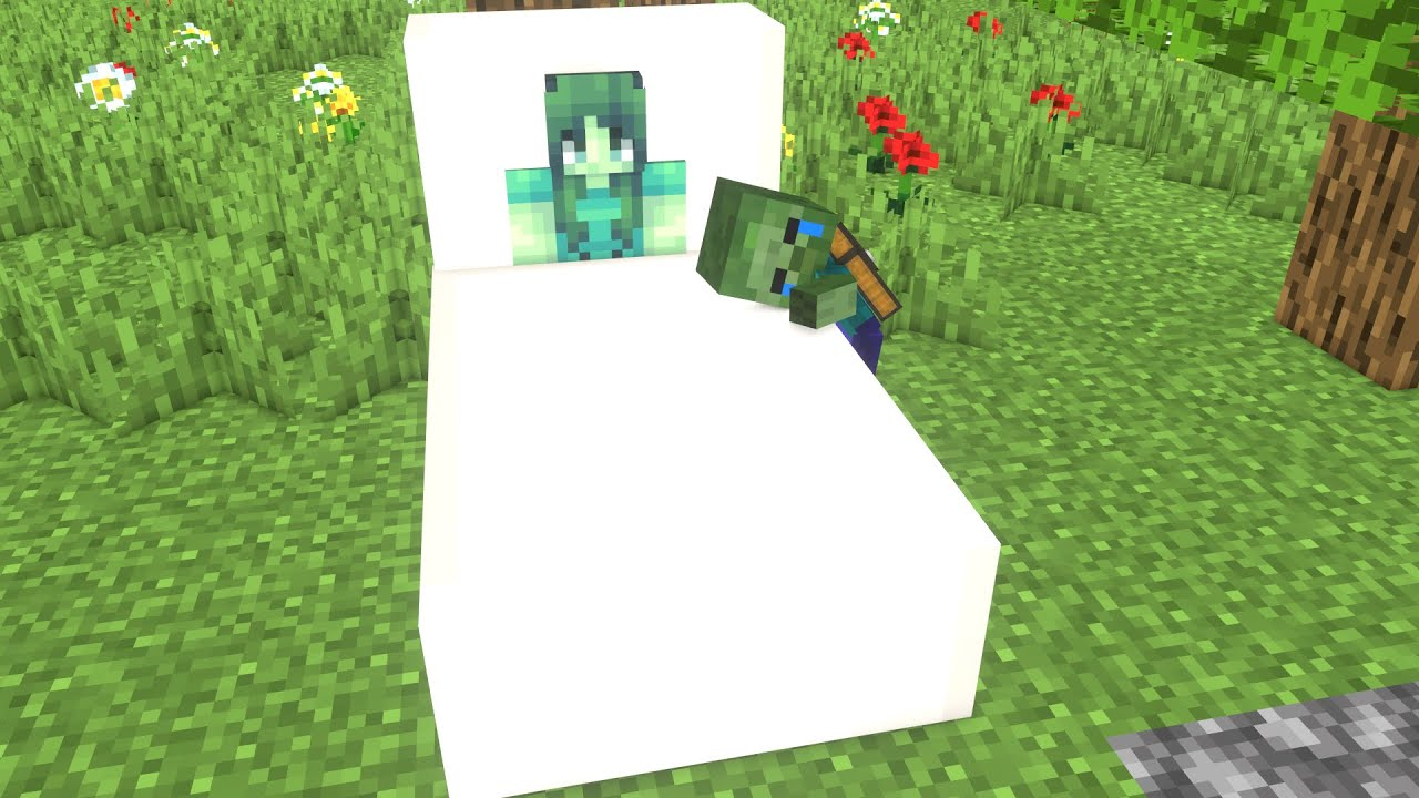 Monster School : Poor Father Of Baby Zombie - Sad Story But Happy Ending Minecraft Animation